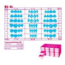 MC-BL estuche preformas de cera en bloques
